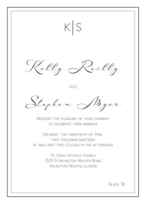 Sarah Invitation Suite - Flat Print