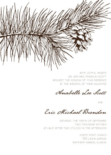 Allison Invitation Suite - Flat Print