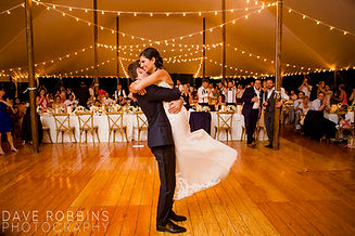 Tanya and Richard at their Locusts on Hudson Wedding Reception. Photo: Dave Robbins Photography. Planner: Matthew Robbins