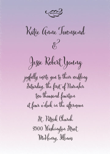 Erica Invitation Suite - Flat Print
