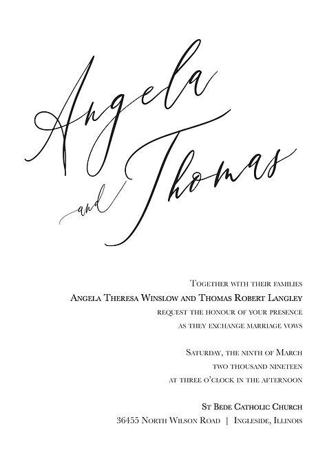 Jessica Invitation Suite - Flat Print
