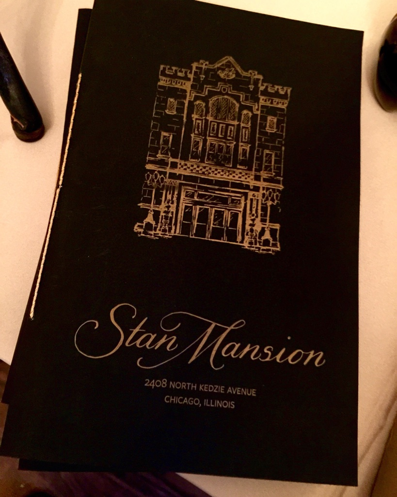 stan mansion letterpress program cover