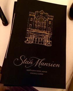 stan mansion letterpress program cover