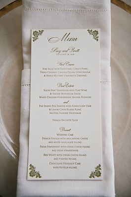 Custom letterpress wedding menu by Lucky Invitations. Rosemary Beach, FL. Photo by Paul Johnson photography.