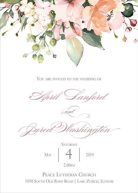 April Invitation Suite - Flat Print