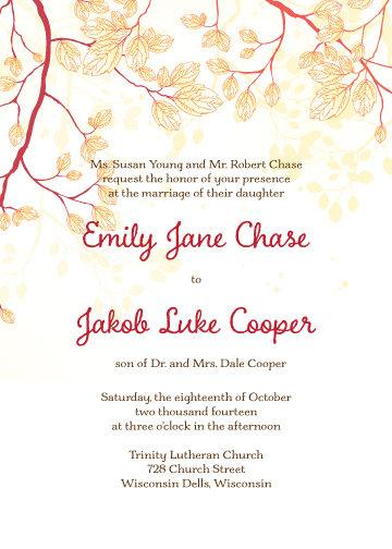 Emily Invitation Suite - Flat Print