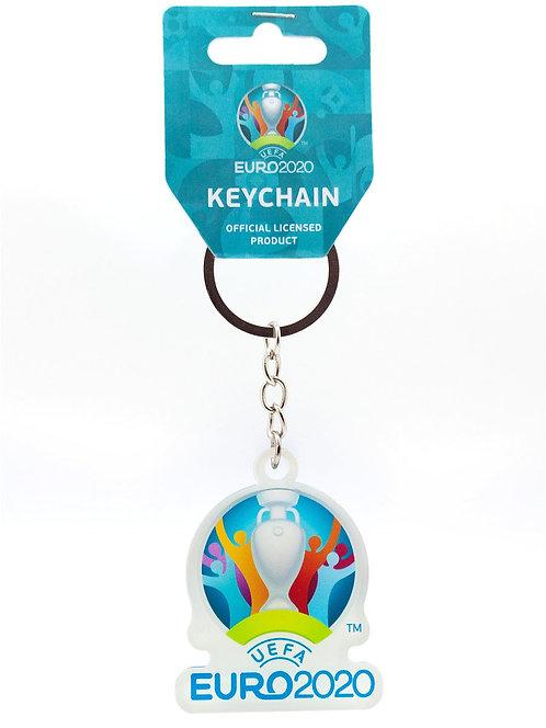 "Брелок ""Эмблема"" (пластик) 50*45 мм UEFA ЕВРО-2020"