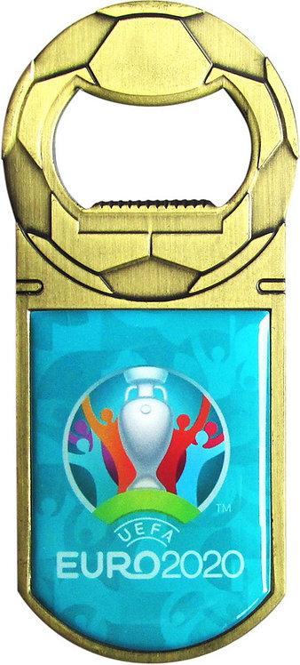 Открывалка металлическая 9 см цв. бронза Эмблема UEFA ЕВРО-2020