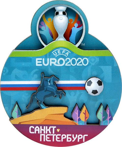 Магнит деревянный СПб  UEFA ЕВРО 2020