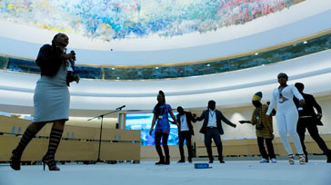 Artists from the West African country travelled to the ILO Conference