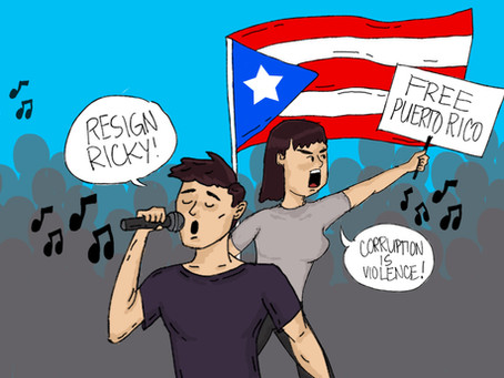 Puerto Ricans Celebrating as Music Takes Down the Governor