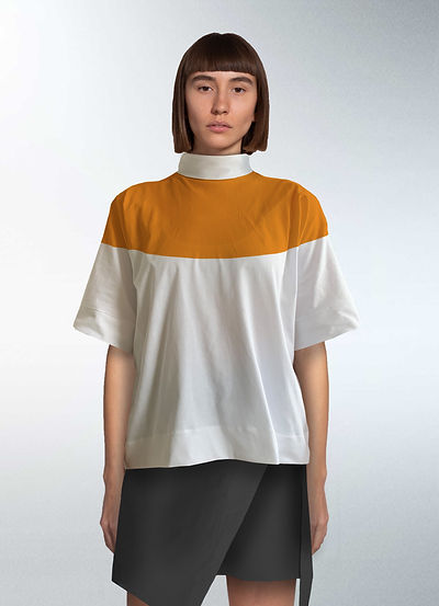 Zero waste pattern cutting trousers t-shirt