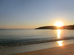 海岸より 夕日