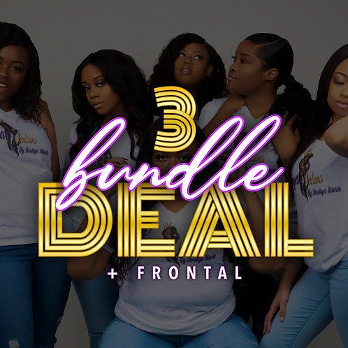 3 Bundle Deal + Frontal