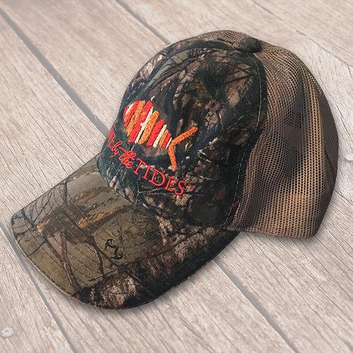 Camouflage Orange Logo Trucker Hat