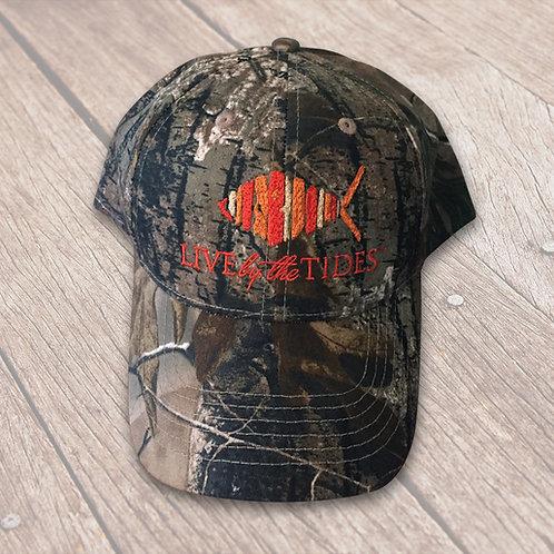 Camouflage Orange Logo Hat
