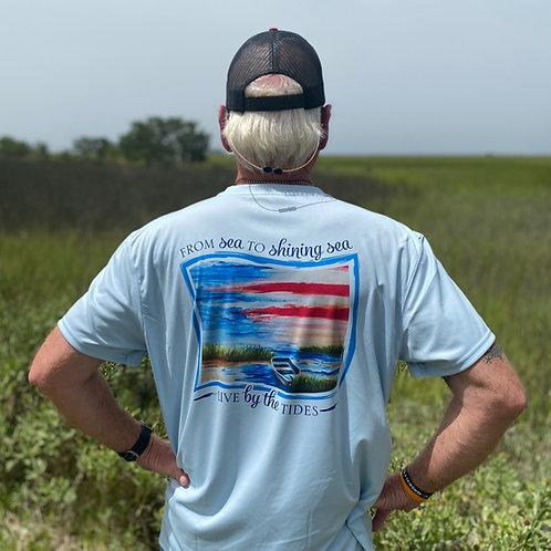 From Sea to Shining Sea Short Sleeve Denali Performance Shirt