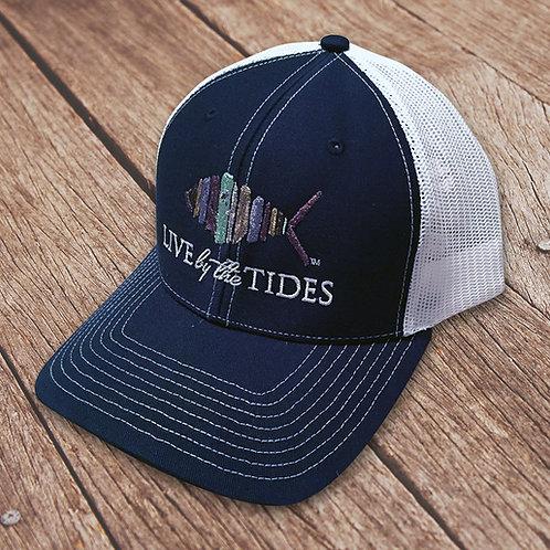 Navy and White Logo Trucker Hat