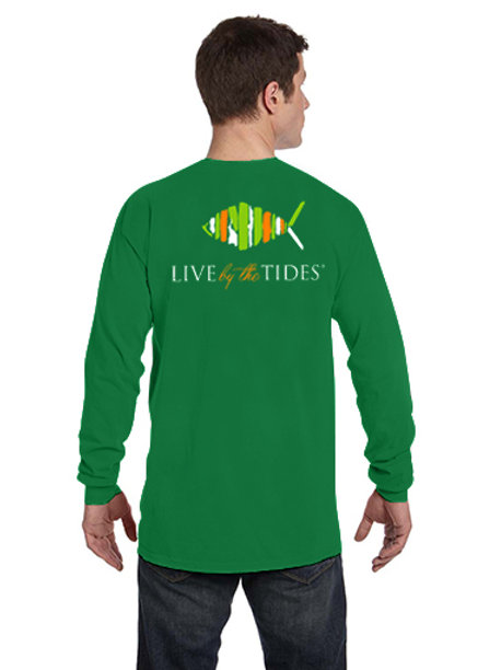 2019 St. Patrick's Day LBTT Long-Sleeve Sleeve Logo Tee