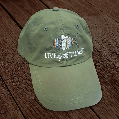 Olive Long Bill Performance Fishing Hat