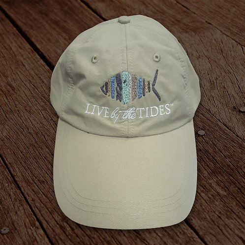 Khaki Long Bill Performance Fishing Hat