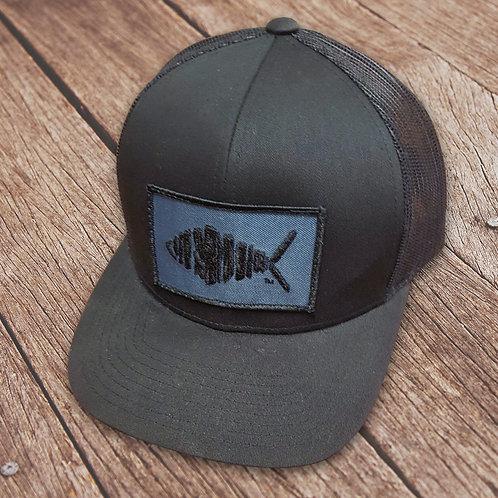 Black Fish Patch Trucker Hat