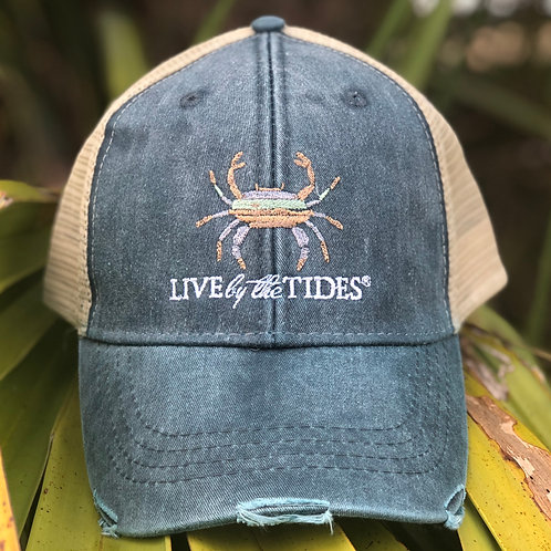 Navy Crab Vintage Trucker Hat