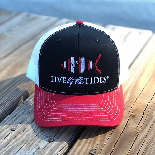 Tricolor Gameday Trucker - Red, Black & White