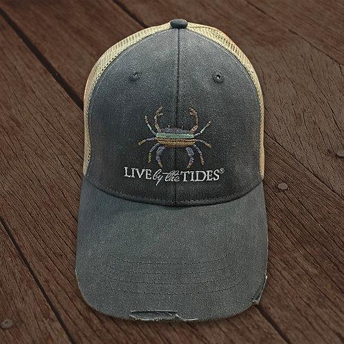 Grey Crab Vintage Trucker Hat