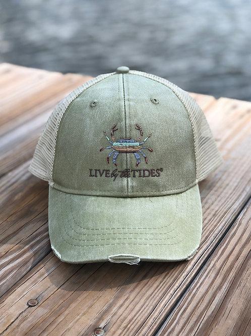 Khaki Crab Vintage Trucker Hat