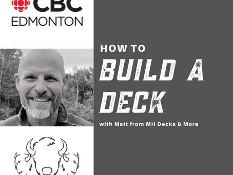 How to Build a Deck in Edmonton - with Matt!