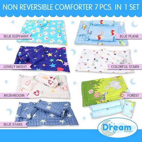 Non-reversible Comforter Mat & Pillows set, Boy