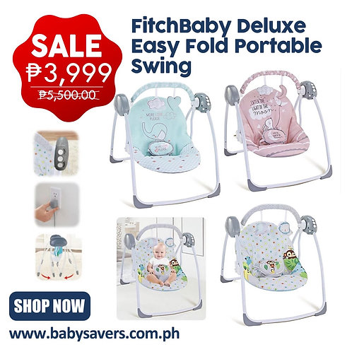 Fitchbaby Deluxe Easy fold Portable Swing