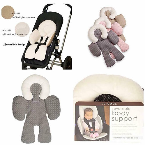 JJ Cole Reversible Head Body Support for stroller & car seat pad