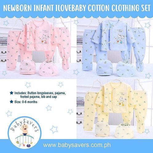 Newborn Infant Ilovebaby cotton clothes set