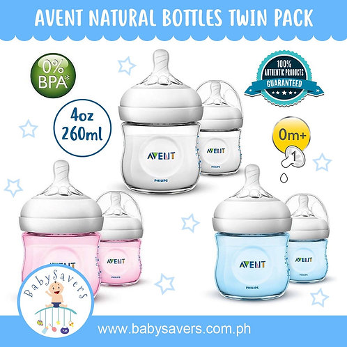Philips Avent Natural Bottle 2 pk 4oz