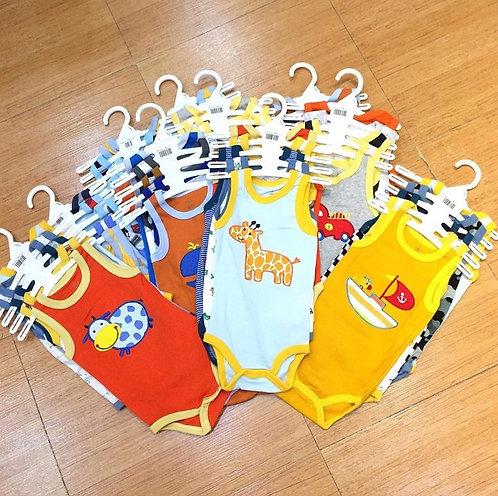 Infant sleeveless bodysuits random colors 5pcs/set -Boy