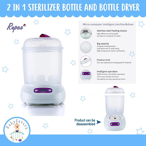Rupex 99.99% 2 in 1 sterilizer bottle and Bottle Dryer