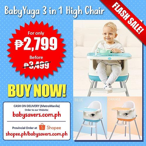 Baby Yuga 3 in 1 feeding higchair