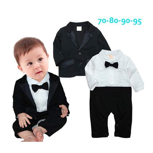 Baby Gentleman Longsleeves Tuxedo with Coat