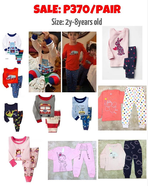 Boys/Girls Pj's set most comfy Sleepwear 100% Cotton