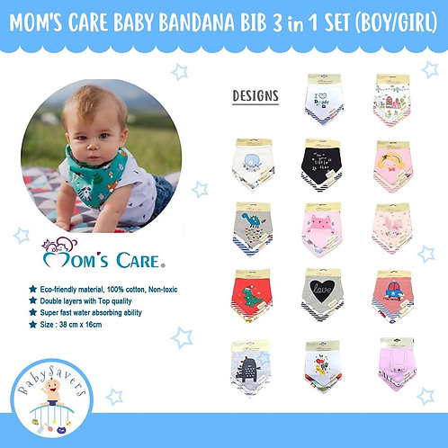 MOM'S CARE - 3pcs/set Baby Bandana bib Boy or Girl