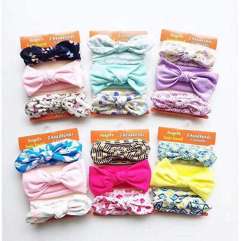 Baby Headbands Turban Knotted, random 3pcs/set Girl's Hairbands