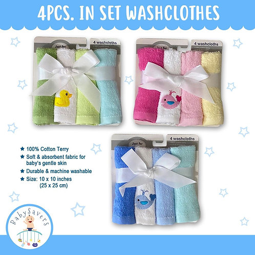 Baby washcloth 4pcs in a set