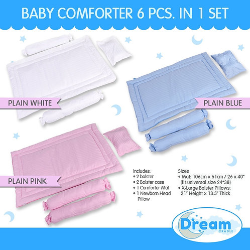 DreamCradle Non-reversible Comforter Mat & Pillows set