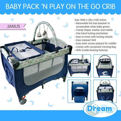 Dream Cradle Pack n play Rocking Crib, Janus