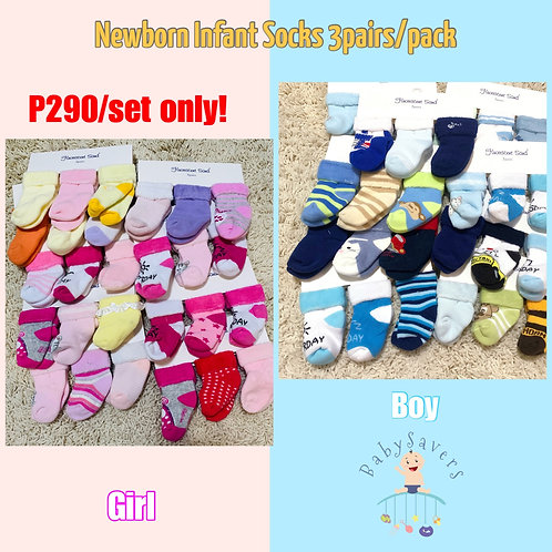 Flourescent Sand 3pairs baby socks, Girl or Boy