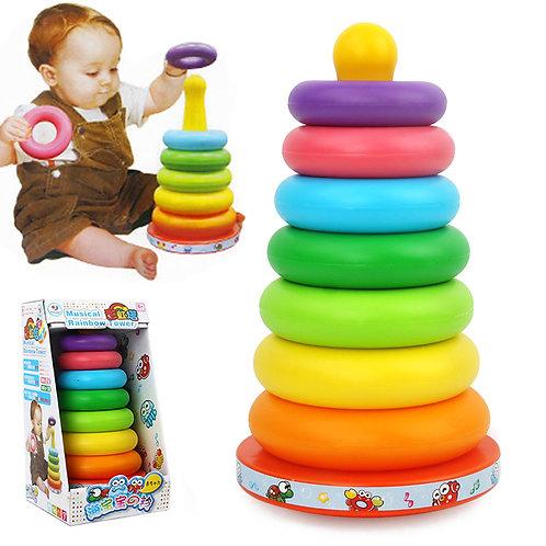 Rainbow Tower Baby Kids Stacking Intelligent Development Educational Toys