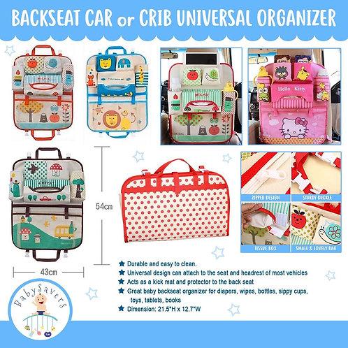 Backseat Car or Crib universal organizer