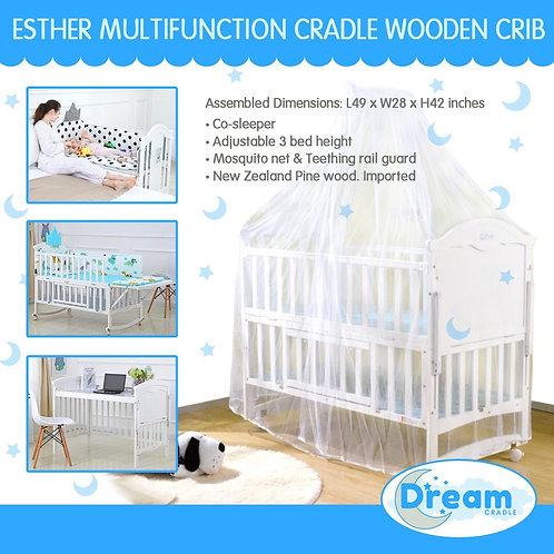 ESTHER Multifunction cradle Wooden Crib